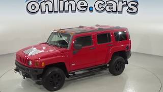 oR94687NC - Used, 2007 Hummer H3, Red, Test Drive, Review, For Sale