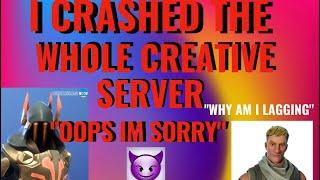 HOW TO LAG / CRASH A CREATIVE SERVER! - Fortnite