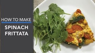 Spinach Frittata (with Organic Bone Broth Protein™ Nitro Beet)