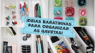 IDEIAS BARATINHAS E SUSTENTÁVEIS PARA ORGANIZAR AS GAVETAS