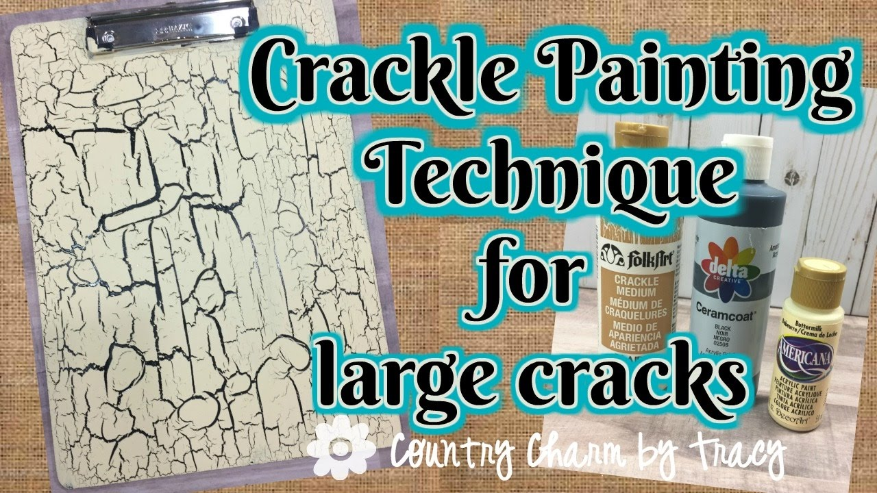 Crackle Paint Effect On Metal