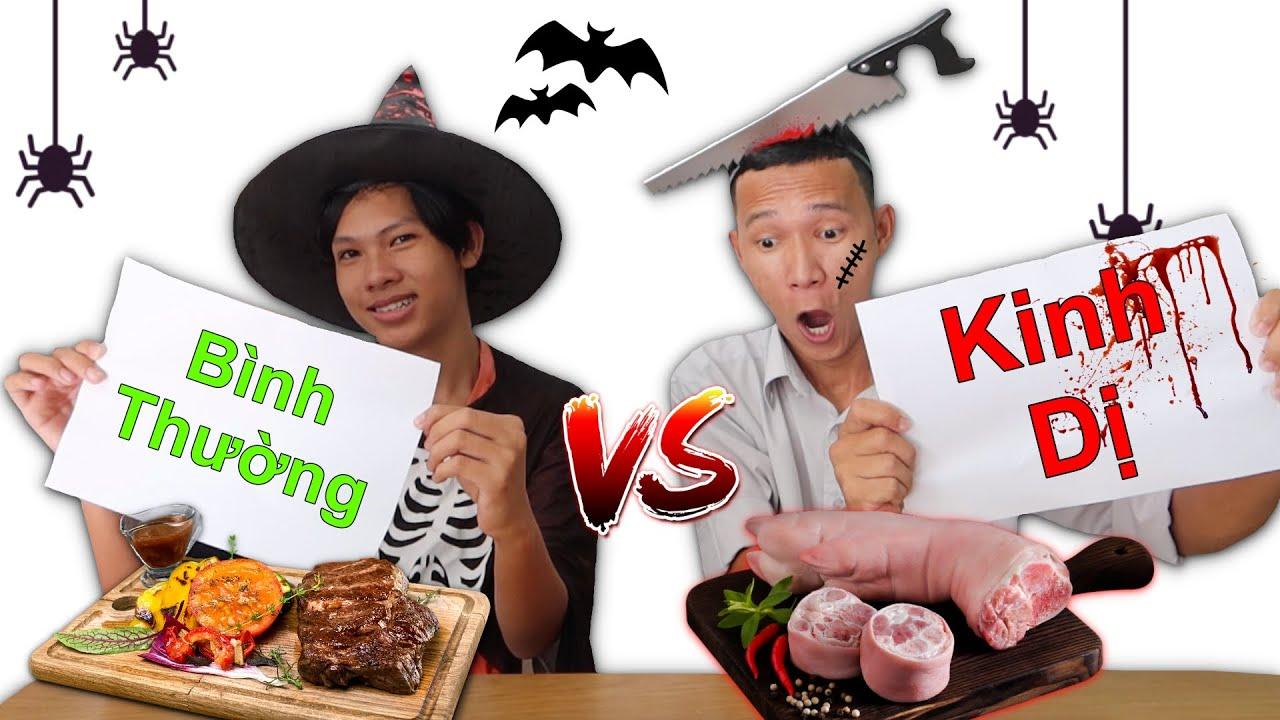 Thử Thách Đồ Ăn Halloween Kinh Dị vs Đồ Ăn Bình Thường