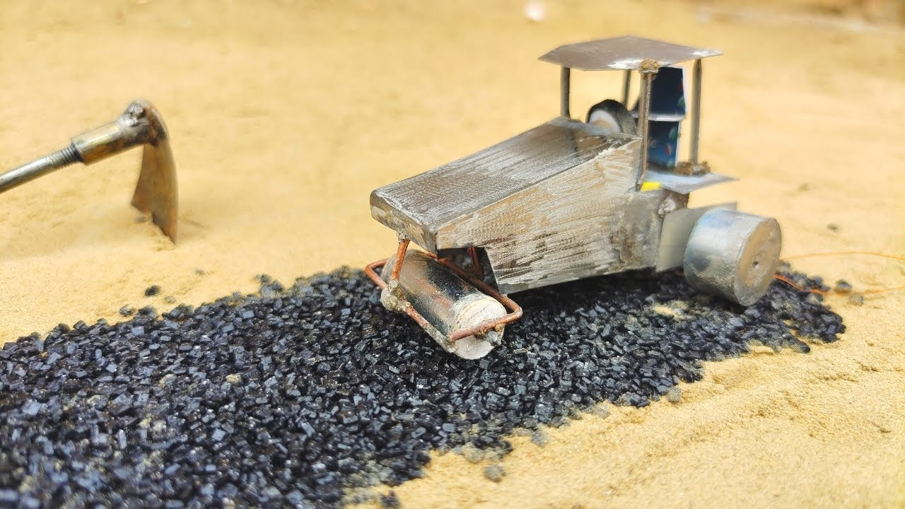 DIY Mini Road Construction  | Mini Road Making Process | With Road Roller - science project