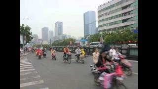 Bicycles and mopeds on the streets of Chengdu