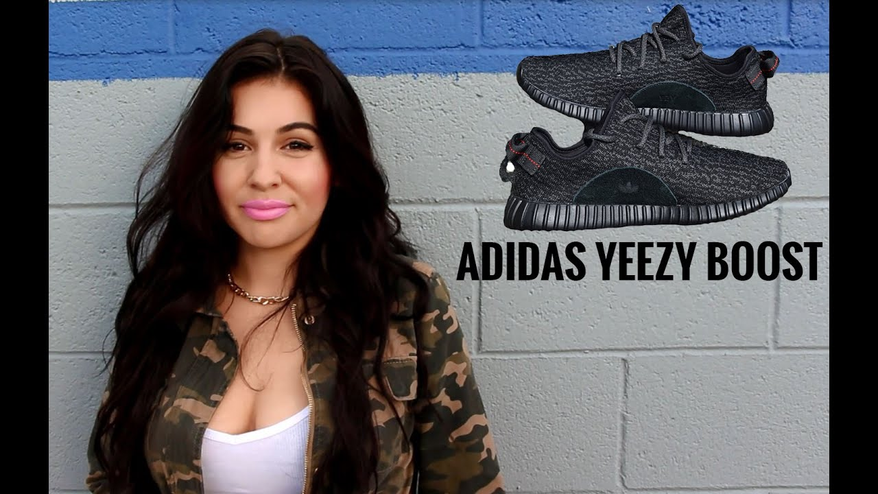 869aa0464 Female Sneakerhead Gives Thoughts on Adidas Yeezy Boost - YouTube