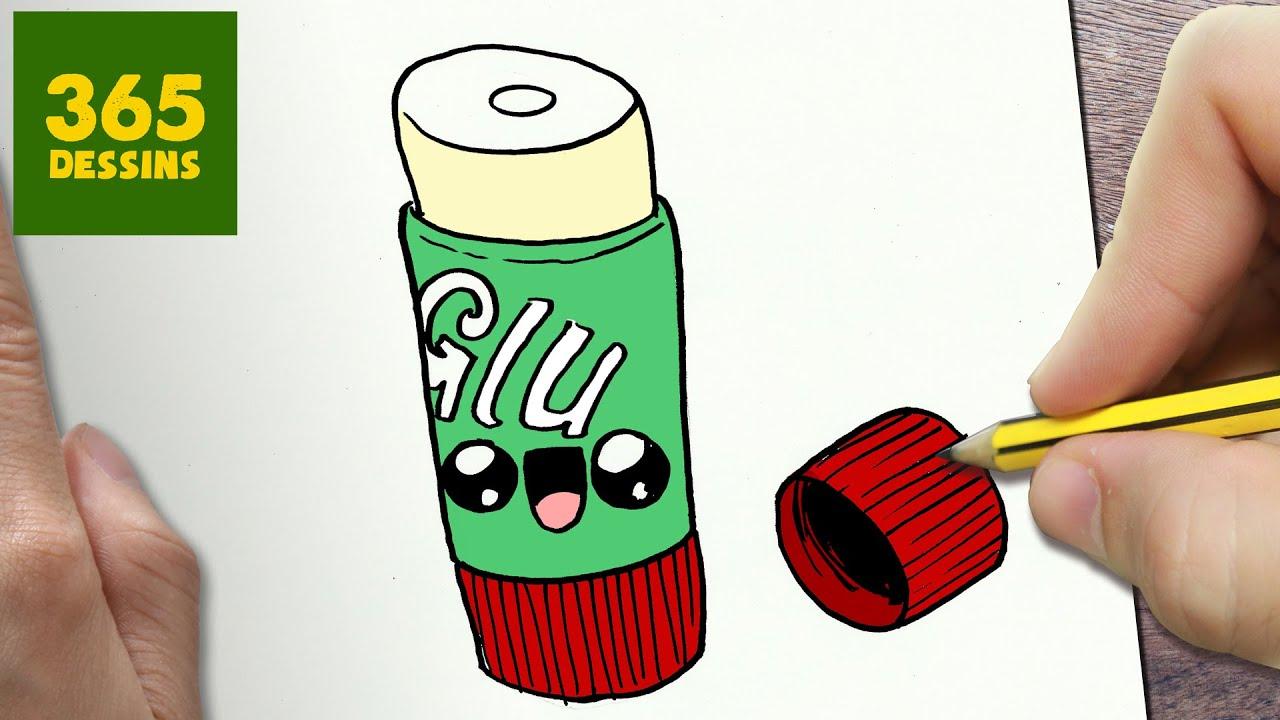 comment dessiner b ton de colle kawaii tape par tape dessins kawaii facile youtube. Black Bedroom Furniture Sets. Home Design Ideas