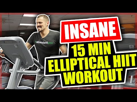 Insane 15 Minute Elliptical Workout HIIT Workout