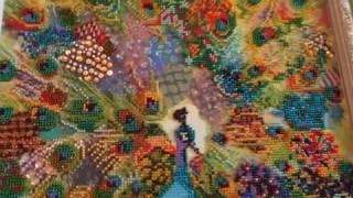 Вышивка бисером картины ,,Лоскутный павлин