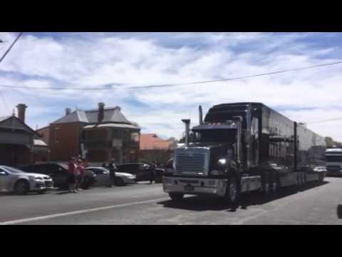 V8 supercars truck convoy