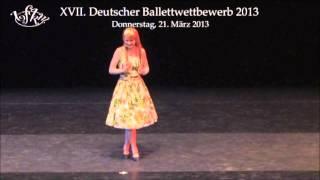 Auftritt in Fürstenfeldbruck, 21.03.2013, Arabesque Ballettschule Hof.