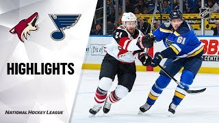 Extended highlights of the Arizona Coyotes at the St. Louis Blues.