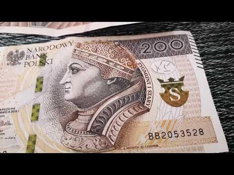 Банкнота 200 злотих в Польщі.