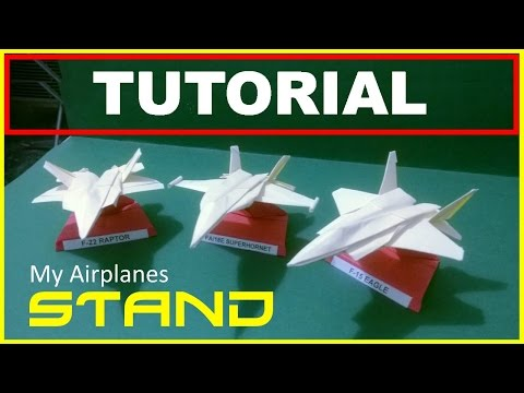 Origami Planes - How to make an origami stand to display your planes - very easy and stable