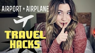 One of Hey Nadine's most viewed videos: Airport & Airplane TRAVEL HACKS