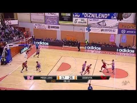 ABA Liga 2014/15, Round 10 match: Mega Leks - Cedevita (01.12.2014)