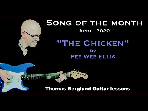 The Chicken by Pee Wee Ellis - Song of the Month with backing track - Fusion guitar
