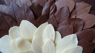 шоколадные листочки своими руками  Nika Life