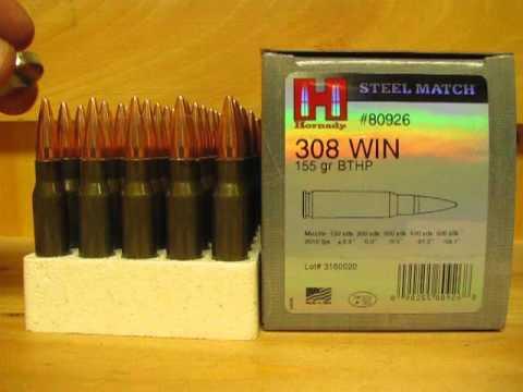 308 Win 155 Grain BTHP Steel Case Match ammo 80926 at SGAmmo com
