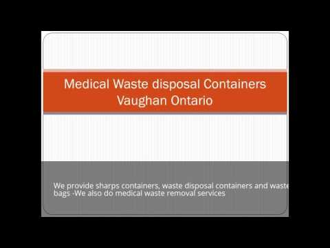 Gic Medical Waste Disposal Containers Vaughan Ontario