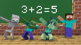 Monster School : Who is the best at math in monster school? - Funny Minecraft Animation