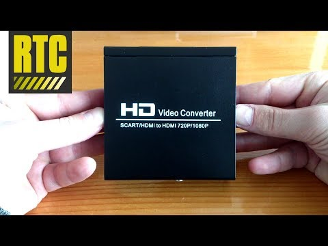 SCART to HDMI HD video converter adapter with cable