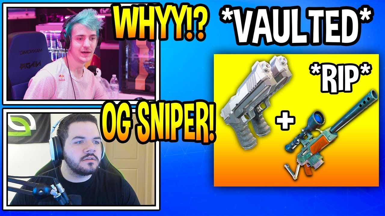 streamers-react-to-dual-pistols-vaulted-from-fortnite-rip-fortnite-moments