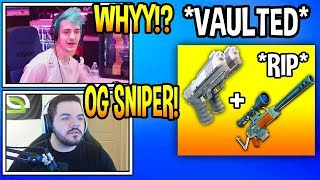 Streamers React To DUAL PISTOLS *VAULTED* From Fortnite! *RIP* Fortnite Moments