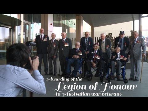 Australian war veterans awarded France's Legion d'Honneur