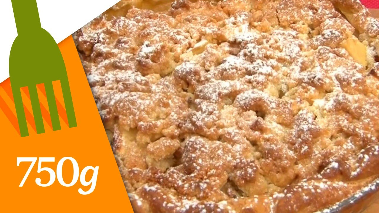 recette de tarte crumble aux pommes 750 grammes youtube. Black Bedroom Furniture Sets. Home Design Ideas