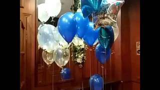Шарики на день рождения.(Воздушные шарики наполненные гелием, фольгированные шарики, прозрачные шарики с конфетти., 2016-02-10T23:36:56.000Z)