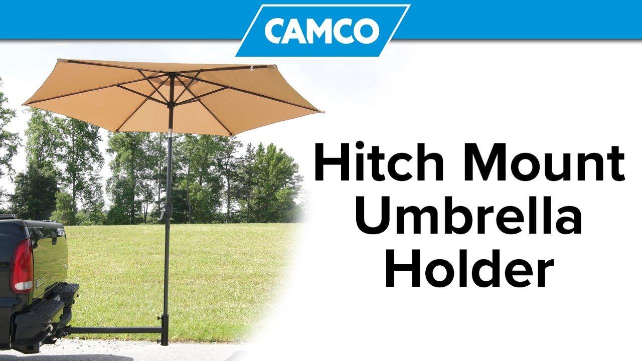 Hitch Mount Umbrella Holder Youtube
