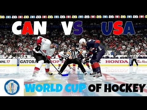 NHL 17 (PS4) World Cup Of Hockey - Canada Vs USA (Full Game)