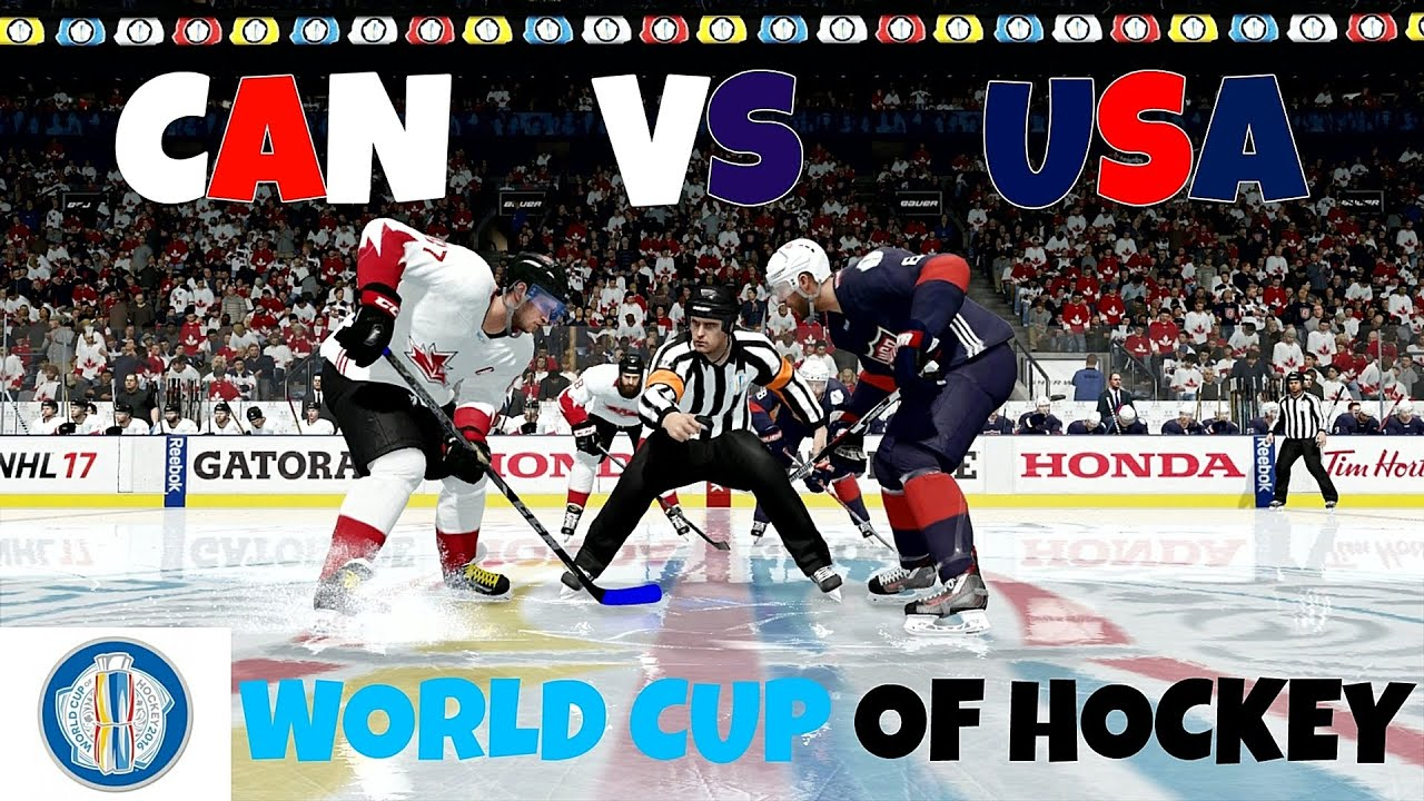 Nhl 17 Ps4 World Cup Of Hockey Canada Vs Usa Full Game Youtube