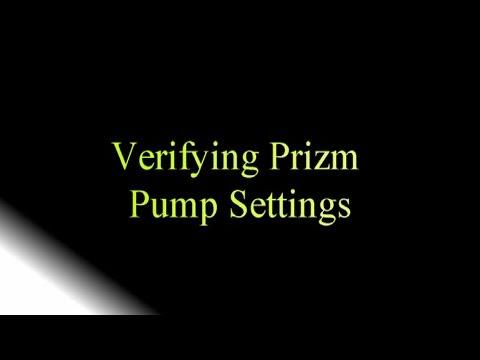 Verifying CADD Prizm Pump Settings