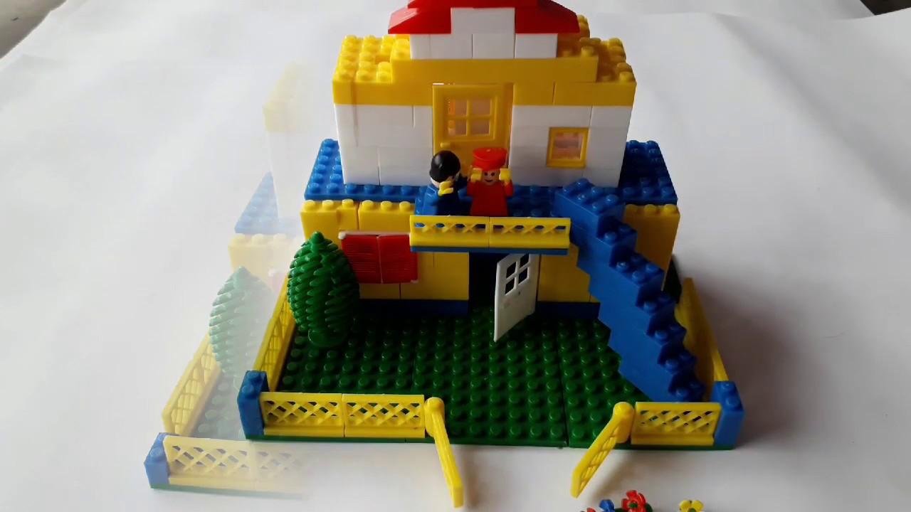 Building Blocks For Kids.Double Floor Building With Peacock Blocks.