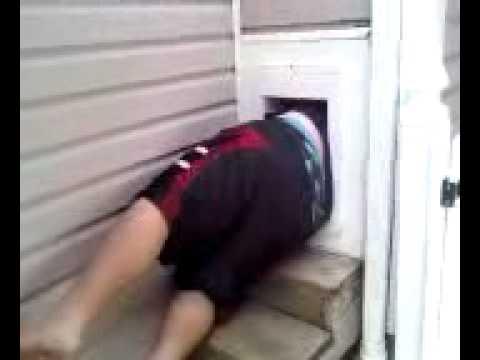 Fat Kid Stuck In Doggy Door Youtube