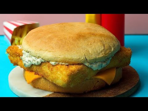 How To Make A Giant Filet-O-Fish Burger