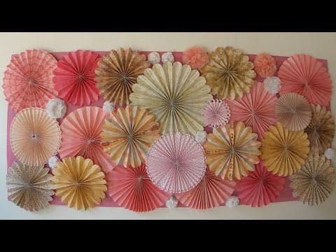 chuladas creativas rosetas de papel rosettes