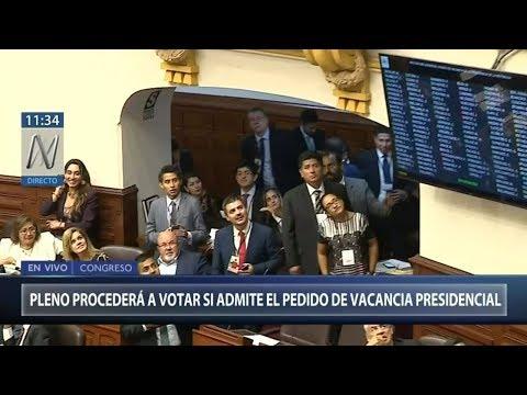 Pleno del Congreso admite con 87 votos a favor debate sobre moción de vacancia contra PPK