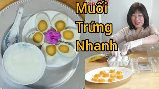 Ba cách làm trứng muối nhanh một ngày và một tháng