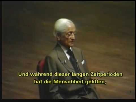Jiddu Krishnamurti - (deutsche UT) Washington Talks 1985 1/2