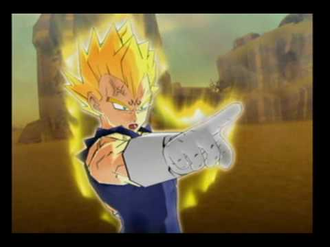 DBZ Infinite World: Majin Vegeta Vs Super Saiyan 2 Goku ...