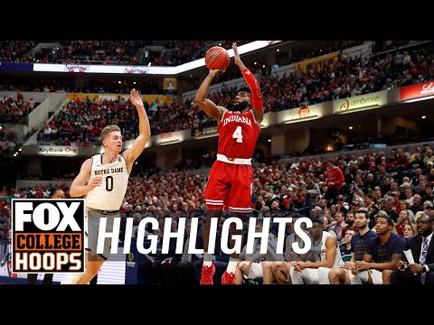 Notre Dame vs Indiana | Highlights | FOX COLLEGE HOOPS