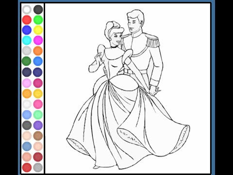 Cinderella Coloring Pages For Kids Cinderella Coloring