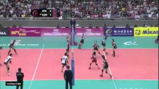 Japan vs Korea 韓国対日本 Fivb WGP 2014 Highlighs (JPN)