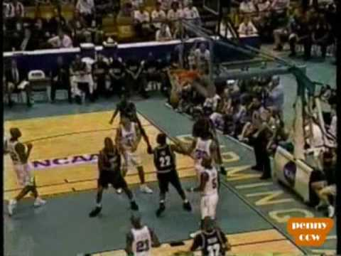 Allen Iverson 24pts G'town vs Rasheed Wallace & Jerry Stackhouse North Carolina 94/95 NCAA *RARE* Game!!