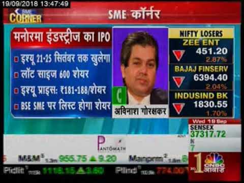 Views of independent expert Mr. Avinash Gorakshakar on upcoming IPO of Manorama Industries Limited.