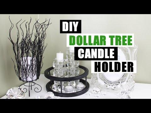 DIY DOLLAR TREE CANDLE HOLDER DIY Home Decor
