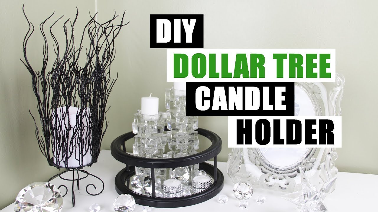 Diy dollar tree candle holder diy home decor youtube for Bathroom decor dollar tree