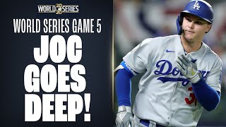 Dodgers' Joc Pederson CRUSHES home run to extend LA's lead in World Series Game 5!
